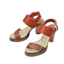 Coque Terra Fußbett-Sandalette - Die Blockabsatz-Sandalette made in Portugal. Von Coque Terra. Herrlich bequem dank Kork-Latex-Fußbett.