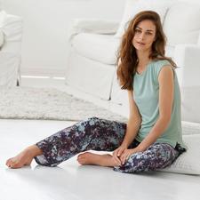 Tatà Pyjama - Exquisites Duo: streichelzartes MicroModal®-Shirt + seidig fließende´Viskose-Hose.