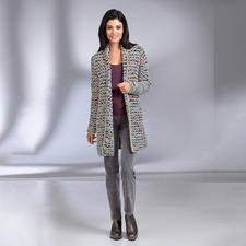 Kero Design Multicolor-Handstrick-Jacke - Von Hand gefärbt, von Hand gestrickt: der Multicolor-Cardigan, der einfach zu allem passt.