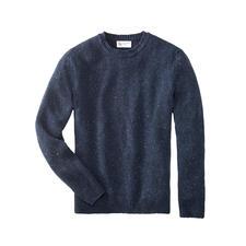 Johnstons 4-Ply Kaschmir-Tweed Herren-Pullover - So selten, so soft: weicher Donegal-Tweed-Pullover aus 100 % feinstem 4-Ply-Kaschmir.