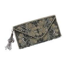 Smitten Perlen-Clutch - Prachtvolle Perlenstickerei, traditionell von Hand gefertigt.