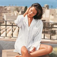 Big-Shirt, Offwhite - Das Big-Shirt lässt Sie genussvoll schlafen – ohne Schwitzen.