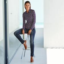 KD-Klaus Dilkrath Jersey-Bluse - Elegant wie eine Bluse. Bequem wie ein Shirt. Die Hemdbluse aus seidigem Viskose-Jersey.