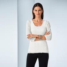 Shelley Komarov Plissee-Travel-Shirt - Gut gekleidet ohne Aufwand: das unkomplizierte Reise-Shirt von Shelley Komarov, L.A. Bequem, pflegeleicht und trotzdem chic.