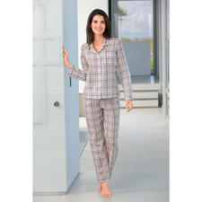 Novila Karo-Pyjama, Rose/Grau - Der Pyjama für den ersten guten Eindruck am Morgen.