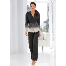 Hanro Dip-Dye-Pyjama - Ein Pyjama wie vom Laufsteg der Fashion-Week. Topmodisch und elegant. Nur zum Schlafen viel zu schade.
