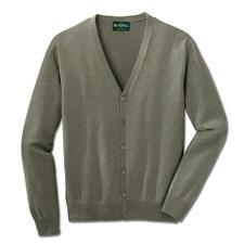 Alan Paine Baumwoll-Kaschmir-Cardigan - Die Luxus-Variante des klassischen Baumwoll-Cardigans. Pima Cotton mit feinstem mongolischem Kaschmir.
