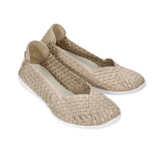 "bernie mev. Flecht-Ballerinas, Goldbeige - Der Fashion-Hit aus New York: Sportliche Flecht-Ballerinas vom ""Master of woven Footwear"", bernie mev.."