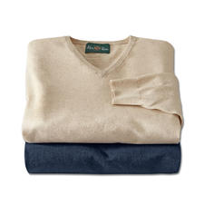 Alan Paine Leinen-Baumwoll-Pullover - Perfekt für den Sommer. Ideal fürs ganze Jahr.