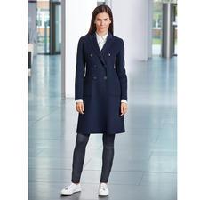 Seventy Woll-Blazermantel - Der blaue Blazer-Mantel im modisch zeitgemäßen Schnitt. Hochwertig umgesetzt vom Edel-Label Seventy, Italien.