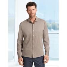 Dorani Jersey-Hemd - Korrekt wie ein Hemd. Doch bequem wie ein T-Shirt. Weicher Baumwoll-Jersey, gewebt von Tessilmaglia/Italien.
