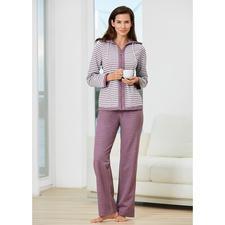 Doubleface-Homesuit - Spart Platz im Koffer und sorgt für mehr Abwechslung – der Homesuit mit Wende-Jacke. Aus weichem Jersey.