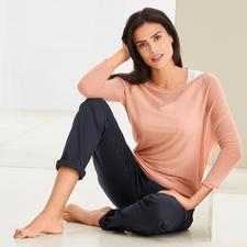 neyo Kaschmir-Asymmetrie-Pullover - Modische Maschen, traditionell gefertigt. Slow Fashion aus fairer Fertigung. Und aus 100 % Kaschmir. Von neyo.