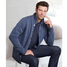 Alan Paine Kaschmir-Jubiläums-Cardigan - In dieser 6-fädigen Luxus-Strickjacke steckt das Haar von 4 Kaschmirziegen.