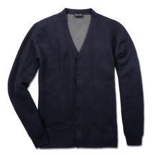 Pima Cotton Doubleface-Cardigan - Die elegante Ausnahme unter den vielen Baumwoll-Cardigans: Handgepflückte Pima-Cotton. Aufwendiger Doubleface-Strick.