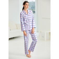 NOVILA Karo-Flanell-Pyjama - Der Pyjama für den ersten guten Eindruck am Morgen.