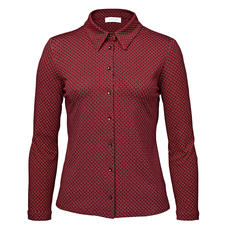 KD-Klaus Dilkrath Jersey-Bluse, rot-schwarz - Elegant wie eine Bluse. Bequem wie ein Shirt.