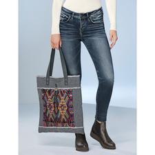 Smitten Huipil-Tasche - Trendiger Ethno-Shopper mit handgewebtem Huipil-Muster aus Guatemala. Limited Edition: 250 Stück.