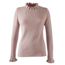 Mustermix-Rüschenpullover, Rosenholz - Rüschen, Mustermix, Pudertöne: 3 Trends – und doch nie zu plakativ. Der modische Pullover für weit mehr als eine Saison.
