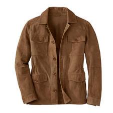Lagerfeld Ziegenvelours-Fieldjacket - Die beste Lederjacke für den Sommer ist aus seidenweichem Ziegenvelours. Luftig-leicht, da ungefüttert. Von Lagerfeld.