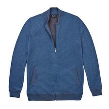 Pima-Cotton-Strickblouson - Die Strickjacke aus handgepflückter peruanischer Pima-Baumwolle: Modisch wichtig wie ein Blouson. Aber viel bequemer.
