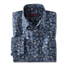 Liberty™ Tana-Lawn-Hemd, Dunkelblau/Weiß/Blau/Grau - Das florale Gentleman-Hemd: Bei allen anderen Trend. Bei Liberty™ Tradition seit über 140 Jahren.