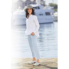 van Laack Plissee-Hemdbluse - Femininer und eleganter als die meisten: die Hemdbluse mit plissiertem Rücken. Von Blusenspezialist van Laack.