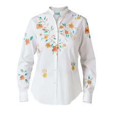Alessandro Gherardeschi Handpaint-Bluse - Handbemaltes Unikat statt einfach bedruckter Massenware: die Flower-Paint-Bluse von Alessandro Gherardeschi.