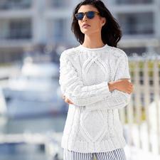 Eribé Handstrick-Sommerpullover - Perfekt für den Sommer – und doch so schwer zu finden: der handgestrickte Aran-Pullover.