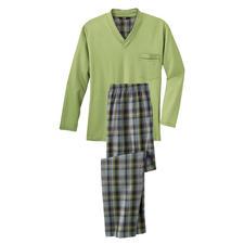 Lieblings-Pyjama Lang No. 5 - Ihr Lieblings-Pyjama zum kleinen Preis. Reine Baumwolle, sauber verarbeitet, made in Germany.