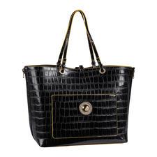 Versace Jeans 2-in-1-Shopper - Zwei Designertaschen zum Preis von einer. Der Kroko-Look-Shopper mit integrierter Handtasche. Von Versace Jeans.