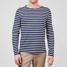 Langarm-Shirt, Marine/Ecru