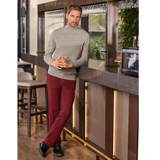 Donegal-Rollkragenpullover - Kernige Donegal-Optik ganz ohne Kratzen. Der elegante Pullover aus selten feinem, weichem Garn mit kostbarem Royal-Alpaka.