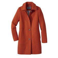 Saint James Caban-Mantel - Trend Wollmantel. Modefarbe Orange. Und doch Potential zum Klassiker.