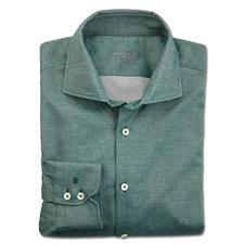 van Laack Flanell-Businesshemd - So korrekt kann ein Flanellhemd sein: Klassischer Haikragen. Feines Fischgrat-Dessin. Sakko-tauglicher Light-Flanell.