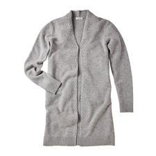 Carbery Strickjacke Trellis-Cable - Modisch aktuelle Zopfstrick-Jacken gibt es viele. Dies ist das rare irische Original. Gestrickt bei Carbery in Clonakilty.