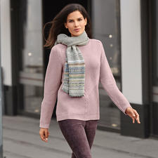 Struktur-Stricksweater - Der exklusive Fashion Classics Strick-Sweater aus Schurwolle mit Kaschmir.