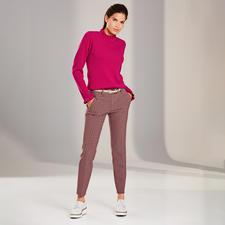 Mustermix-Rüschenpullover - Der modische Pullover für weit mehr als eine Saison: Rüschen, Mustermix, leuchtende Colour-Pops.
