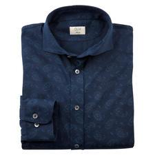 Dorani Paisley-Jersey-Hemd - Glatt, dunkel und dezent dessiniert: So elegant kann ein Jersey-Hemd sein.