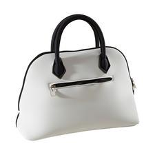 Princess-Bag, Weiß/Schwarz