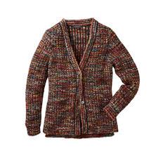 Kero Design Multicolor-Handstrick-Cardigan - Der von Hand gefärbte, von Hand gestrickte Multicolor-Cardigan.