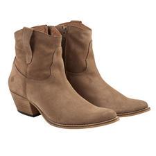 Apple of Eden Cowboy-Boots - Kultige Form. Naturfarbenes Veloursleder. Kernige Steppnähte. Kein Schnickschnack. Von Apple of Eden.