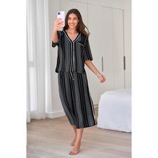 DKNY Logostreifen-Pyjama - Trendgerecht wie ein High-Fashion-Piece.