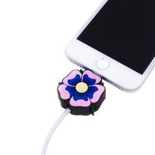 LED-Motiv-Ladekabel, Flower Power - Das perfekte Präsent für alle Apple-Fans: die Motiv-Ladekabel mit Leuchteffekt.