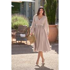 SLY010 Empire-Seidenkleid - Heute High-Fashion-Piece, morgen Lieblingsstück für viele Gelegenheiten.