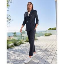 Seventy Venezia Blaue Anzug-Hose oder -Blazer - Modisches Makeover für den klassischen dunkelblauen Hosenanzug.
