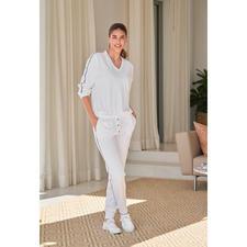 HFor Sweat-Hose, Langarm oder -Kurzarm-Sweater - Der Loungewear-Anzug vom jungen, belgischen Label HFor. Herrlich bequem. Trendgerecht straßentauglich. Und erfreulich erschwinglich.