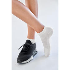 Bamboo-Sneakersocken Damen, Weiß