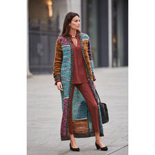 M Missoni Mohair-Maxi-Mantel - Fashion-Kunstwerk par excellence: der Mohair-Maxi-Strickmantel vom Couture-Stricklabel M Missoni.