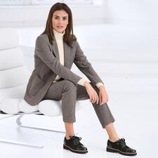Seventy Mini-Hahntritt-Hose oder -Blazer - Modisches Makeover für den klassischen, karierten Anzug: Angesagte Farben. Maskuliner Schnitt. Softer Jersey.